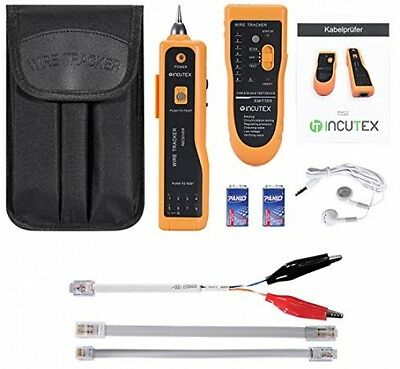 Incutex Cable Finder LAN RJ45 RJ11 - Cable Locator, Cable Tester, Network Wire