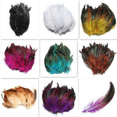 100P 5-7 Inch Rooster Tail Feather Pheasant Tail Feathers Costume Decoration UK