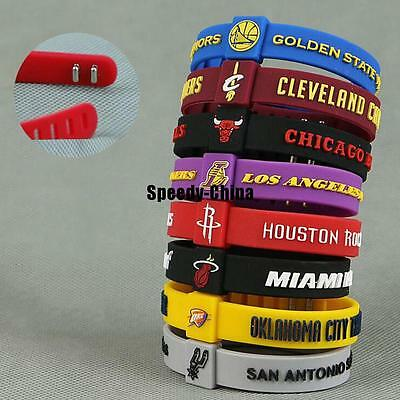 Silicon Bracelet Basketball Teams CLEVELAND CHICAGO ROCKETS adjustable Wristband