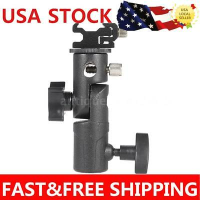 Flash Bracket Hot Shoe Adapter Swivel Light Stand Mount Umbrella Holder E Type