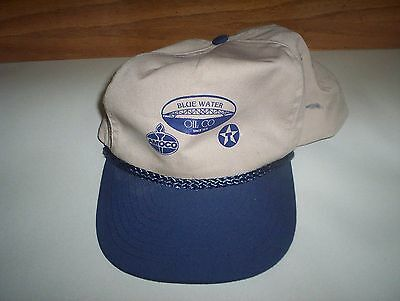 Blue Water Oil Company AMOCO & TEXACO Baseball Hat Cap : Oil & Gas Collectable