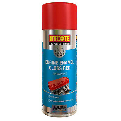 Hycote Gloss Red Engine Enamel Spray Cans Paint 400ml