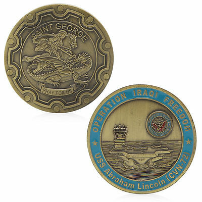 US Abraham Lincoln Saint George Commemorative Challenge Coins Souvenir Novelty