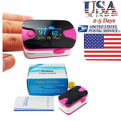 A Class US Fingertip Pulse Oximeter OLED Blood Oxygen Heart Rate SPO2 Monitor