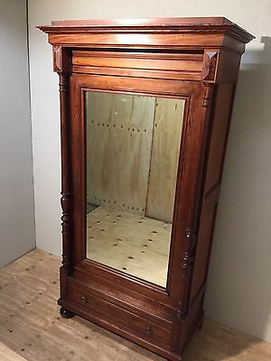 Beautiful 19Th Century Carved French Pine Armoire/wardrobe/cupboard