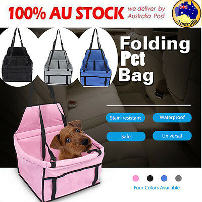 Safety Dog Cat Pet Car Seat Booster Soft Travel Bag Mat Cage Puppy Carrier AU