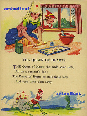 Children's mage: Nursery Rhyme - The Queen of Hearts / Pat-A Cake. NOT A BOOK.
