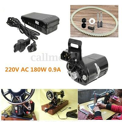 220V 180W 0.9A Black Domestic Household Old Sewing Machine Motor + Controller