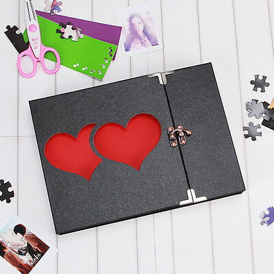 Red Heart Love Photo Album Wedding Album DIY Hollowed Craft Anniversary Gift