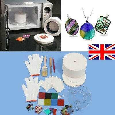 14Pcs Large Stained Glass Fusing Supplies Professional Microwave Kiln Kit Tool