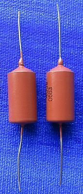 (2) .022uf 400V PIO Guitar Tone Capacitors Paper In Oil Russian Made 0.022uf