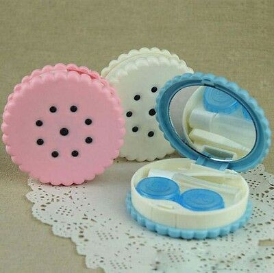 Eyewear Cases Random Color Cookies Sweet Case Colored Contact Lenses Box 1 Pcs