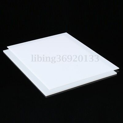 420x297mm White Acrylic Perspex Sheet Cut to Size Panel Plastic Satin Gloss (A3)