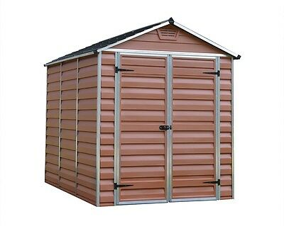 New PALRAM SkyLight Amber Plastic Garden Shed's - 6 Different Size's Available