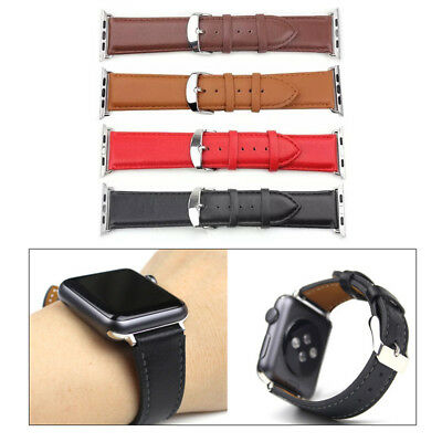 Luxury Leather Sport Strap Bracelet Band for Apple Watch iWatch 42mm Series 3 2