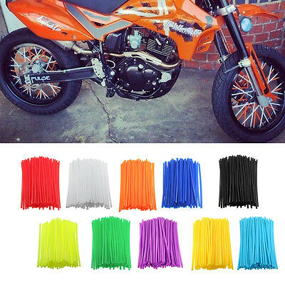 72Pcs Motorcycle Wheel Rim Spoke Skins Covers Wrap Tubes Decor Kit Dirt