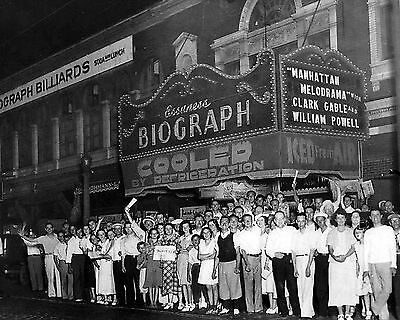 NEW 8x10 Photo Chicago's Biograph Theater Crowd after John Dillinger was Killed