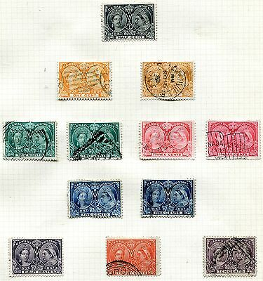 CANADA. 1897 QUEEN VICTORIA JUBILEE SET, ½c to 20c. GOOD to FINE USED, SCARCE.