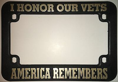 I Honor Our Vests America Remembers Plastic Motorcycle License Plate Frame New