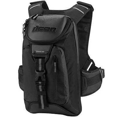 Icon Squad 3 Street Motorcycle Backpack Bag All Colors-Black