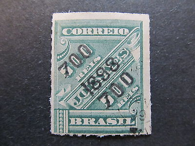 A4P32 Brazil 1898 surch 700r on 500r used #87