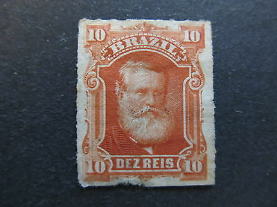 A4P31 Brazil 1878-79 Rouletted 10r used #23