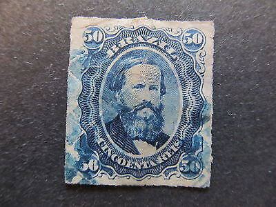 A4P31 Brazil 1876-77 Rouletted 50r used #19