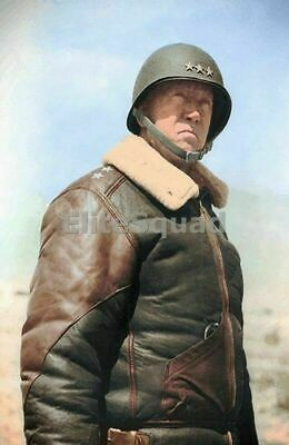WW2 Picture Photo Lieutenant General George S. Patton Jr. (pictured before 833