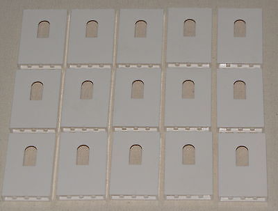 Lego Lot Of 15 New White 1 X 4 X 5 Castle Wall Panels With Window Pieces