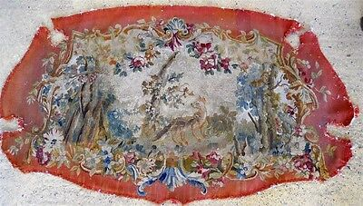 Aubusson Sofa Tapestry Antique French 18Th-Century   Chateau Wine Bordeaux