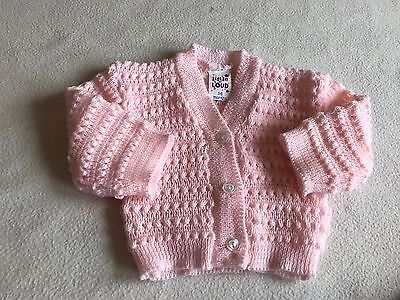 Baby Girls Clothes 3-6 Months - Cute Girl Pink  Cardigan - New