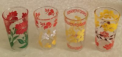 Vintage Lot of 4 Hazel Atlas Tumbler Jelly Glasses