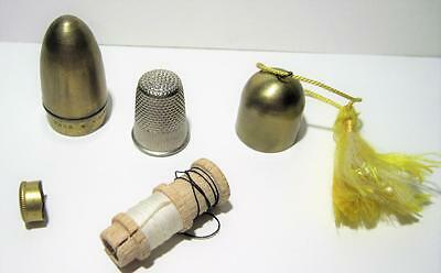Vintage Eres Brass Bullet Travel Sewing Kit Made In Germany/Austria
