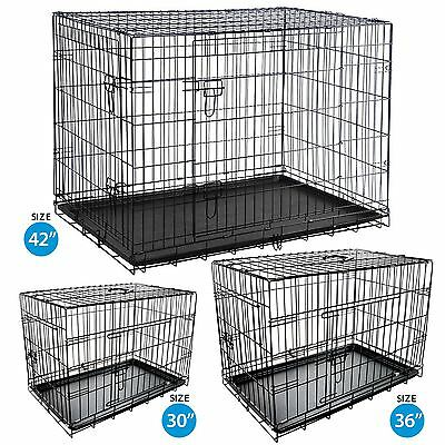 Pet Cage Pop Up Folding Metal Crate Animal Dog Kennel Travel Carrier Training