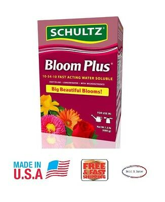 NEW Schultz Bloom Plus Plant Food 10-54-10 Fast Acting Water Soluble 1-1/2 lbs.