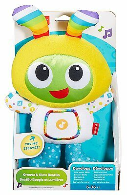 NEW Fisher-Price Groove & Glow BeatBo Lights & Sounds Cuddly Soft Toy