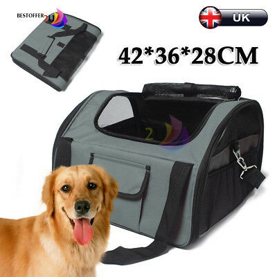 Large  Pet Carrier Dog Cat Car Booster Seat Soft Cage Travel Bag Portable Green