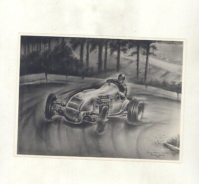 1947 Sidney Allard Steyr V8 Race Car Piet Olyslager Art ORIGINAL Photo ww8905
