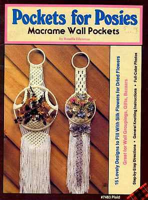 Macrame Pockets for Posies Wall Pockets Pattern Book