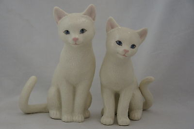 Lenox A Purrrfect Family White Cats Set of 2