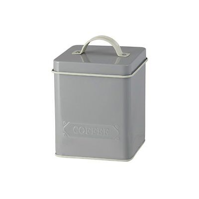NEW Pantry Embossed Coffee Canister Grey