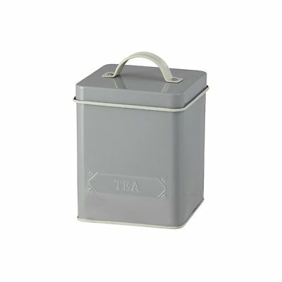 NEW Pantry Embossed Tea Canister Grey