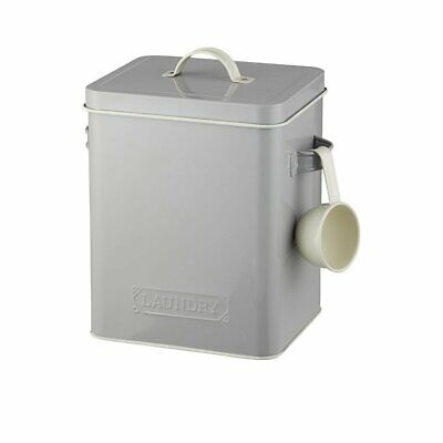 NEW Pantry Embossed Laundry Soap Canister Grey