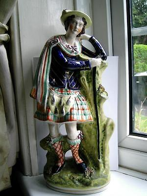 Very Large Staffordshire pottery Jacobite Scotsman Rob Roy figure C1860
