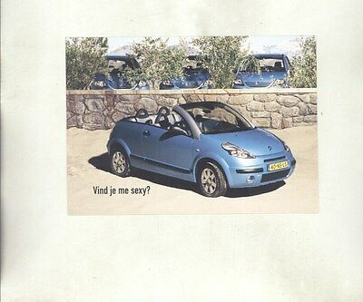 2003 ? Citroen C3 Pluriel Convertible ORIGINAL Factory Postcard my8591