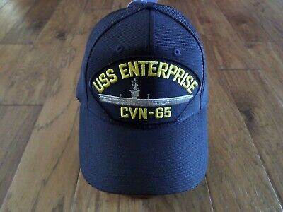 459da270034 Uss Enterprise Cvn-65 Navy Ship Hat U.s Military Official Ball Cap U.s.a  Made
