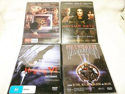 "Horror Movies Bulk Pack 4 Dvd's All Pal ""preowned"" Auz Seller P30"