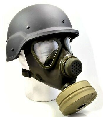 Full NBC Protection German Military & Police M65 Gas Mask w/Sealed Unused Filter