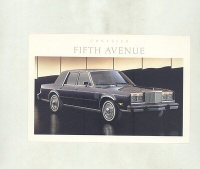 1988 Chrysler Fifth Avenue ORIGINAL Factory Postcard my8657