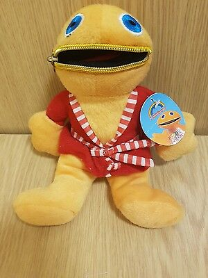 """Official ZIPPY 8"""" Soft Toy Plush - Red Dressing Gown RAINBOW Collectable tagged"""